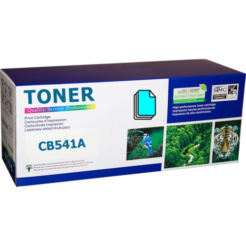 HP CB541A, 125A Cyan съвместима тонер касета