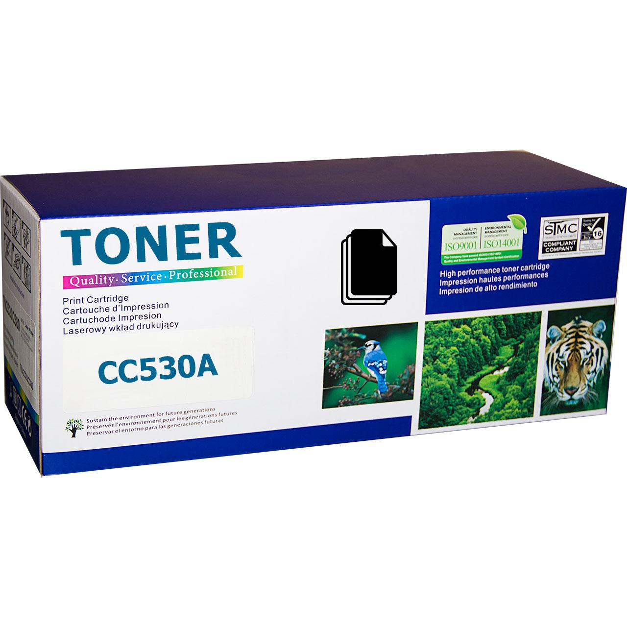 HP CC530A, 304A Black съвместима тонер касета