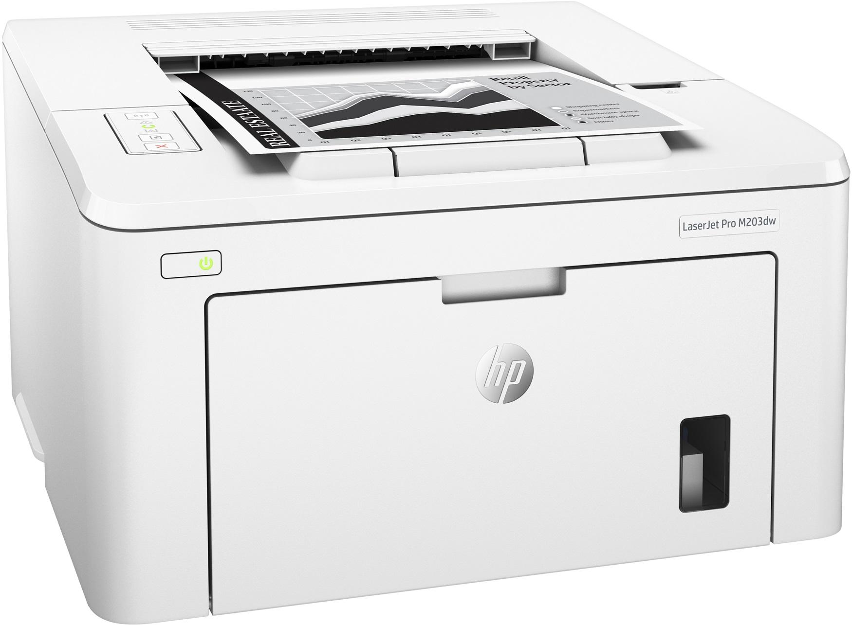 Принтер HP LaserJet Pro M203dw Printer
