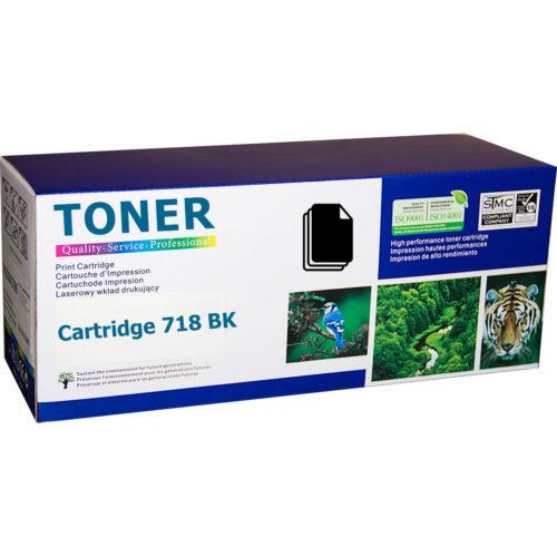 Canon Cartridge 718BK Black (CRG-718BK) съвместима тонер касета