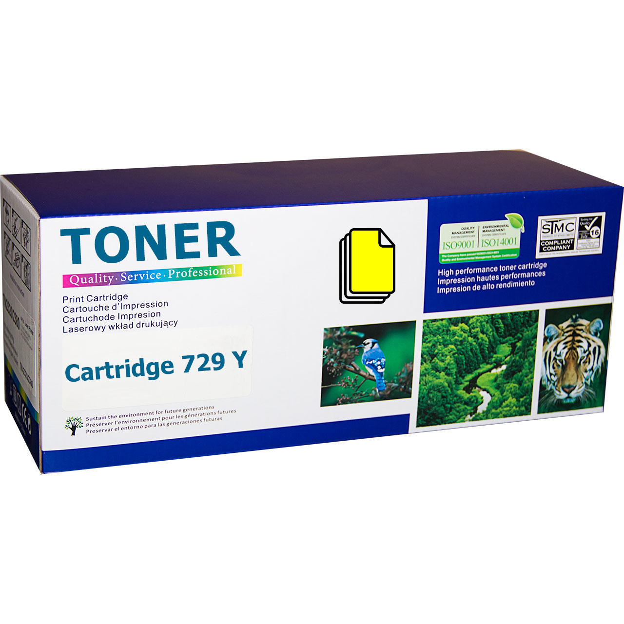 Canon Cartridge 729Y Yellow (CRG-729Y) съвместима тонер касета