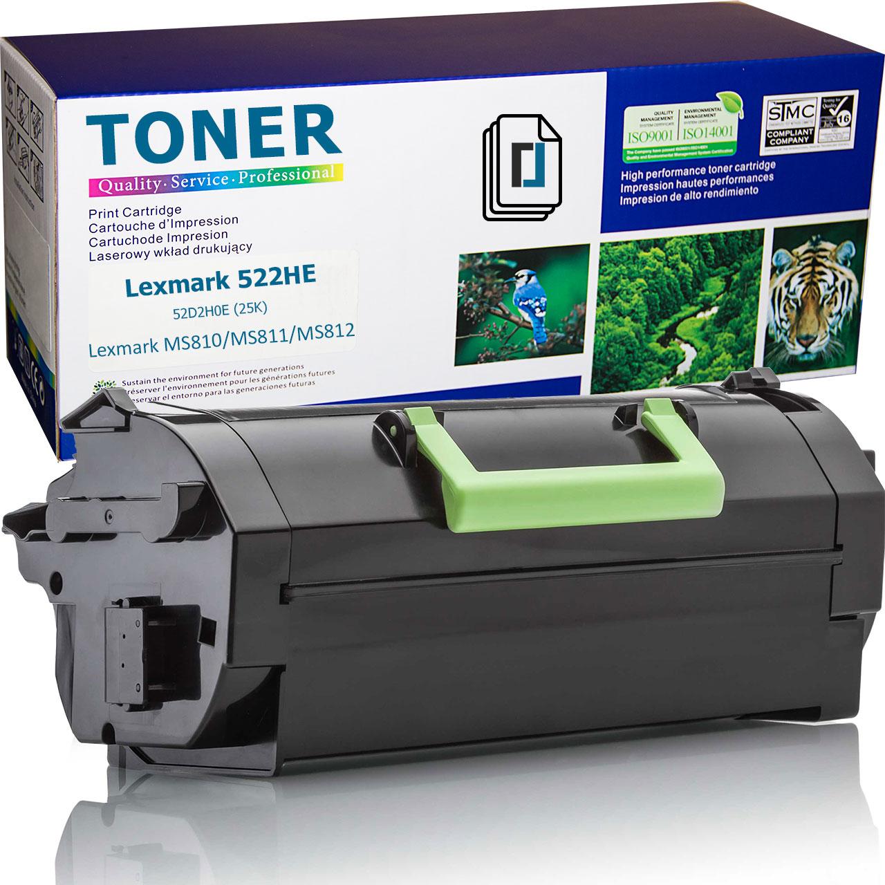 Нова тонер касета заместител Lexmark 522HE, 52D2H0E