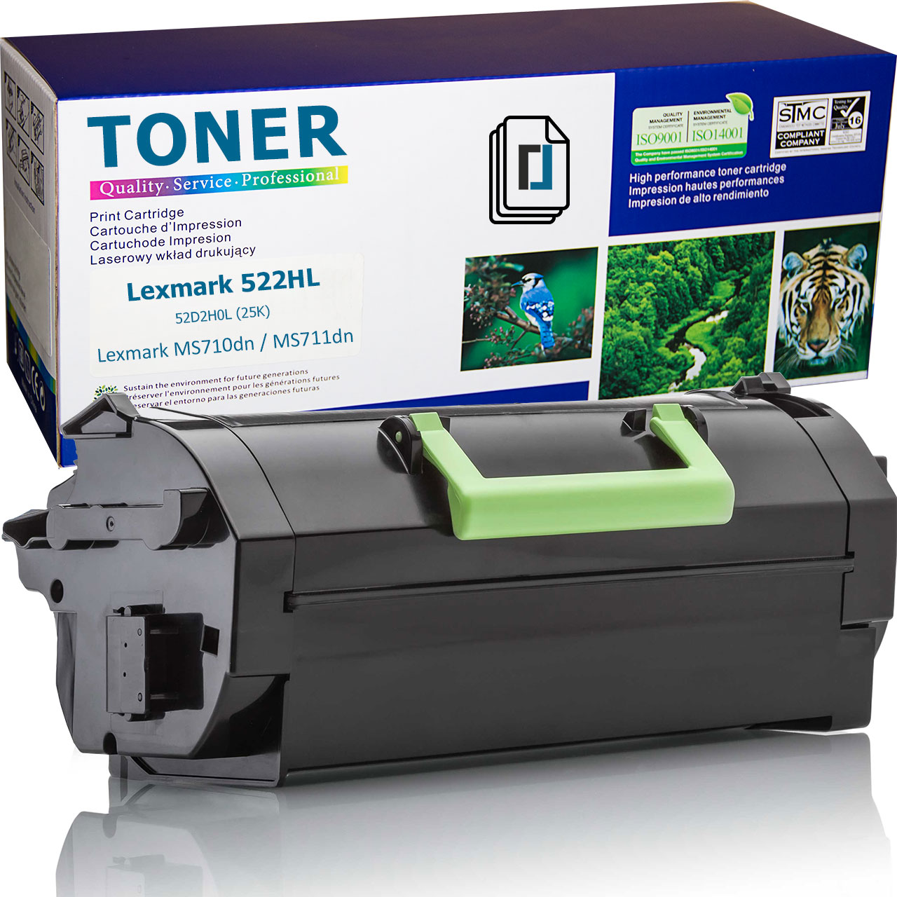 Нова тонер касета заместител Lexmark 522HL, 52D2H0L