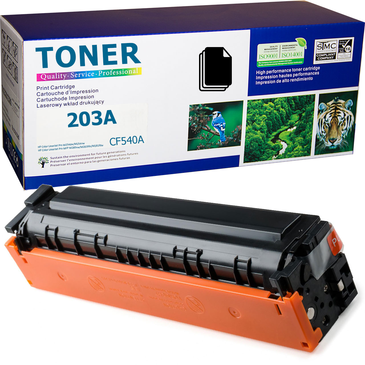 HP 203A Black, CF540A Toner Cartridge