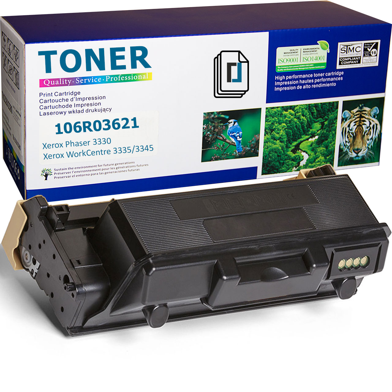 106R03621 Toner Cartridge compatible with Xerox WorkCentre 3345