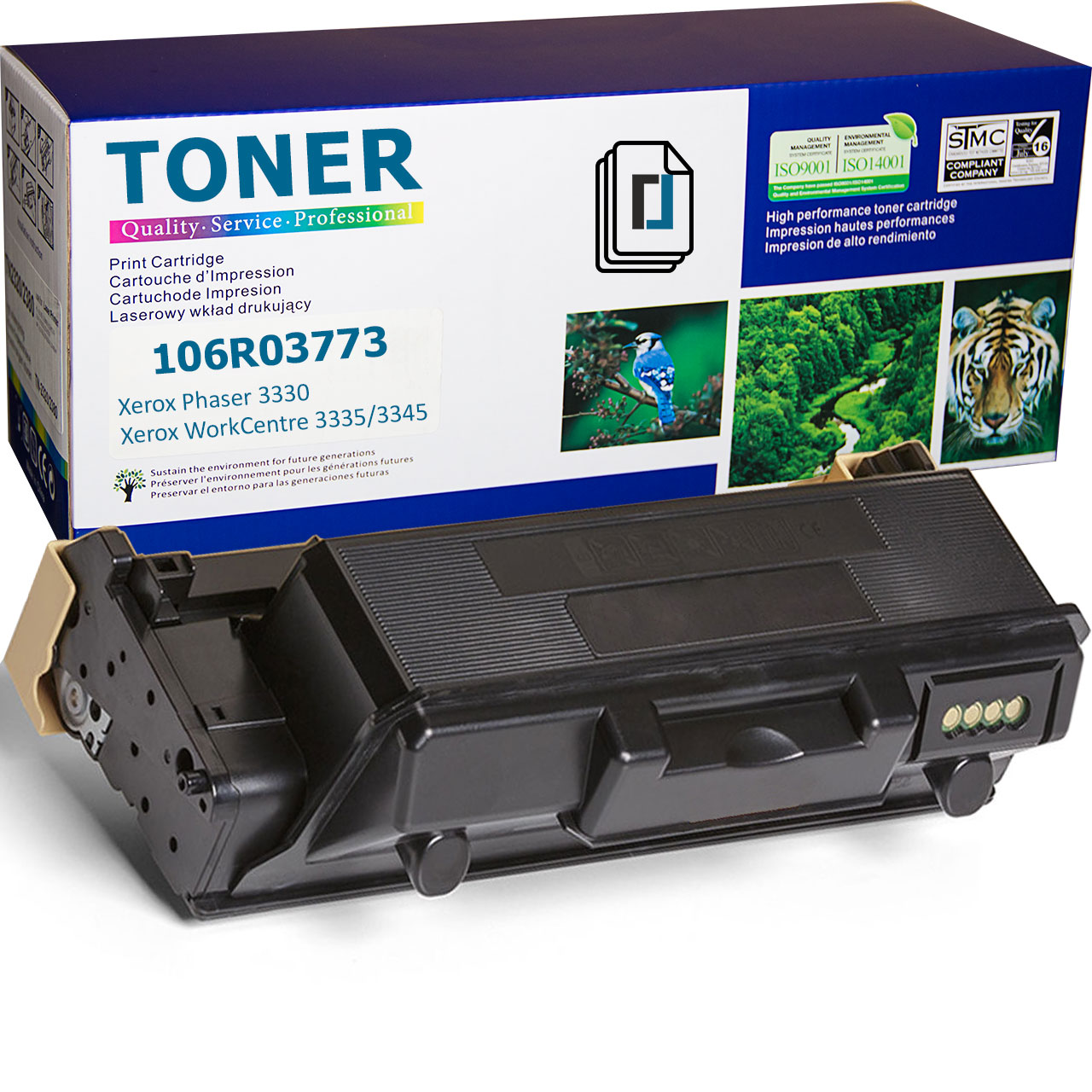 106R03773 Toner Cartridge compatible with Xerox WorkCentre 3345
